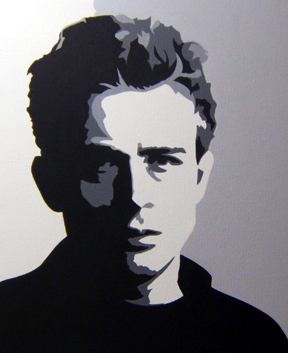james dean black and white painting - photo #41